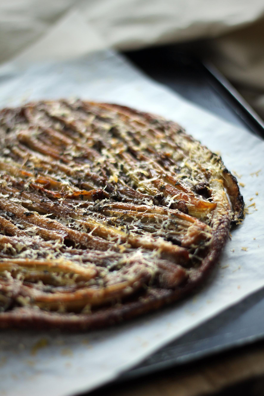 Caramelized Fenland Celery Tarte Tatin with Parmesan & Sage crust ...