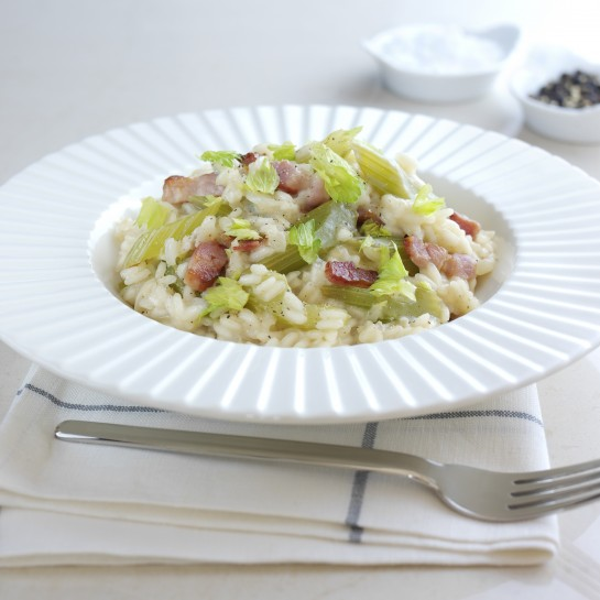 celery and bacon risotto