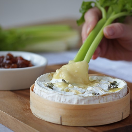 baked camembert with celery recipe