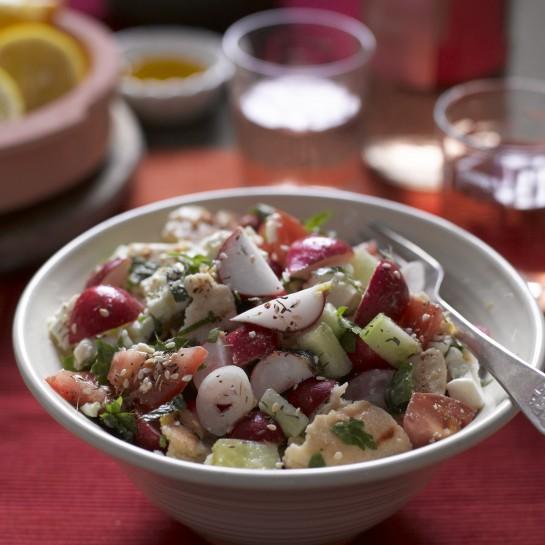 Lebabese radish fattoush recipe