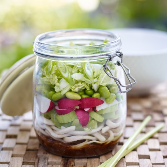 Kilner jar salad