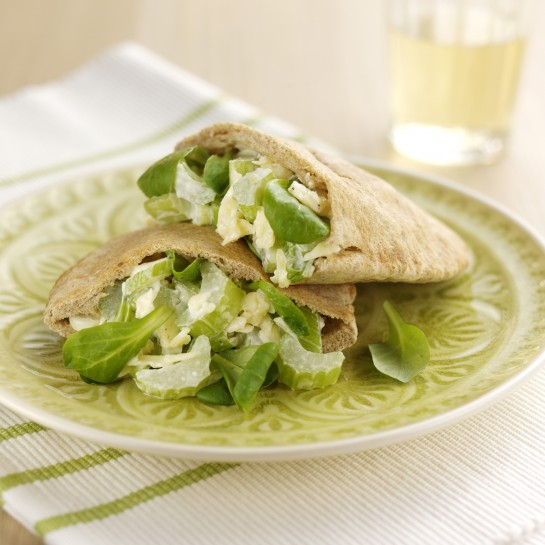 Celery cheddar pita pockets