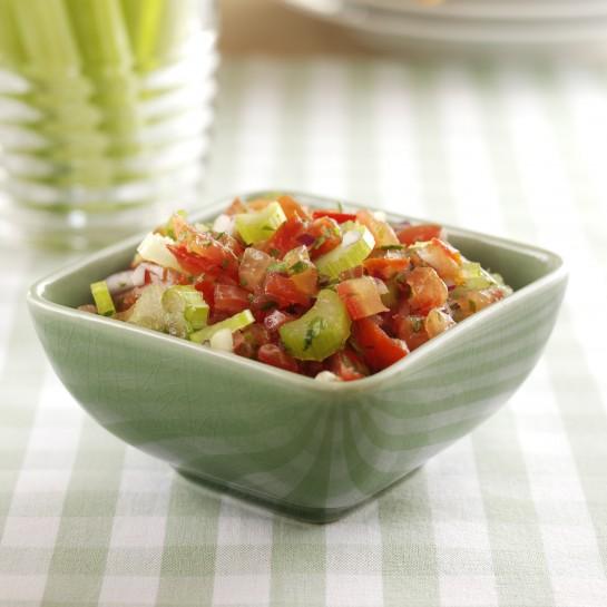 Tomato and celery salsa
