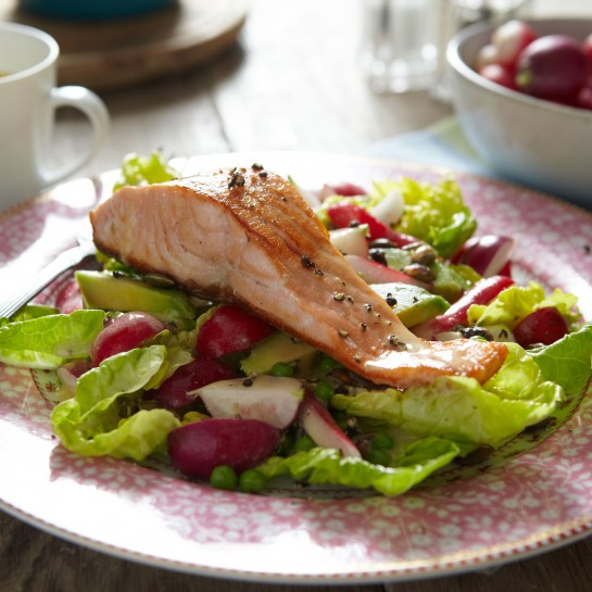 salmon with radish recipe