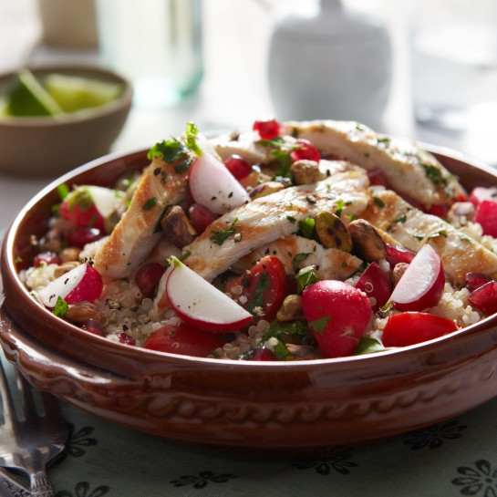 quinoa chicken tabbouleh recipe
