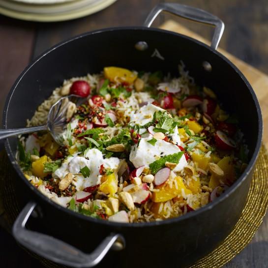 radish and squash pilaf recipe