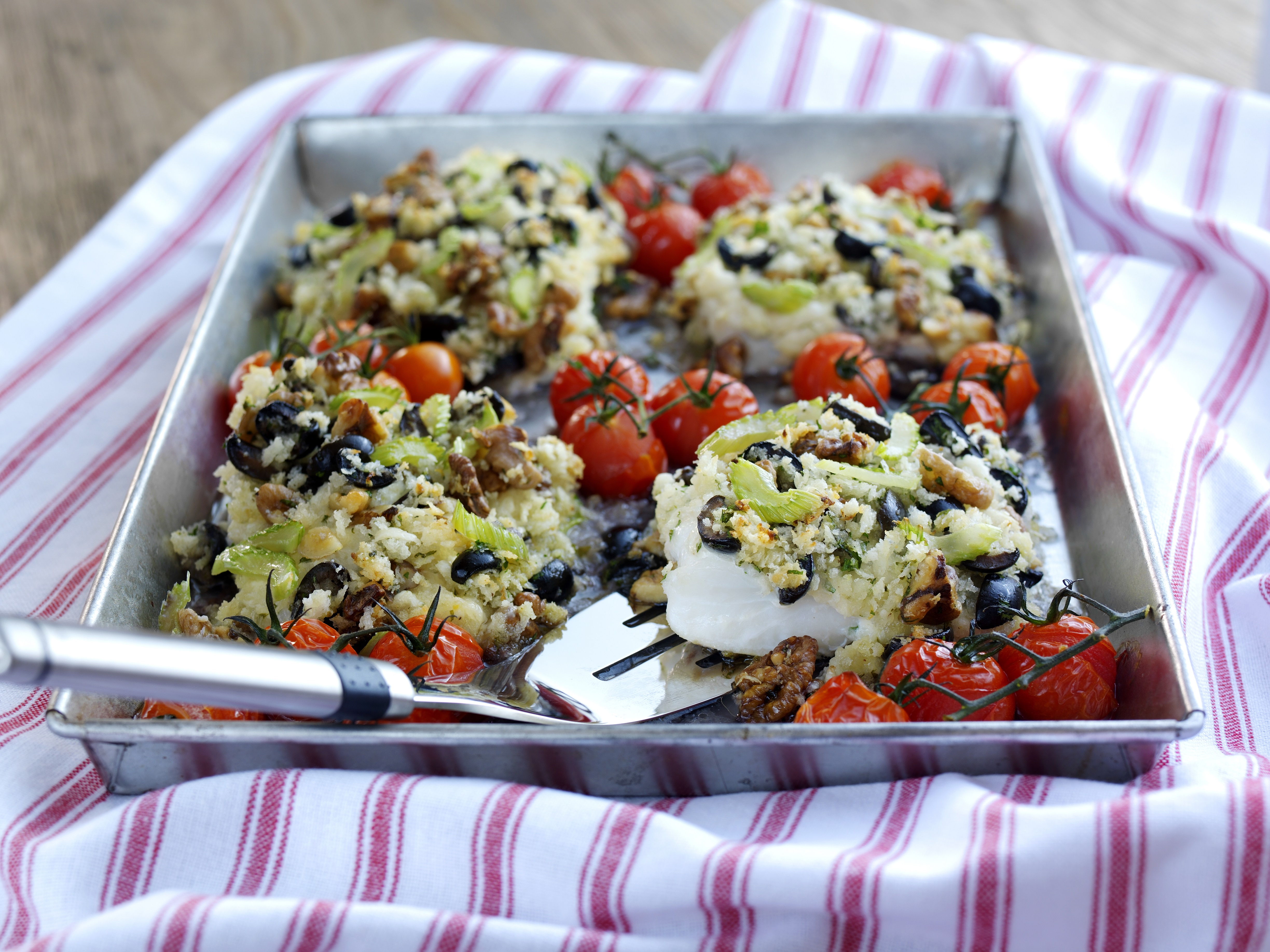 ... Black Olive Stuffing with Roasted Cherry Tomatoes - Love The Crunch