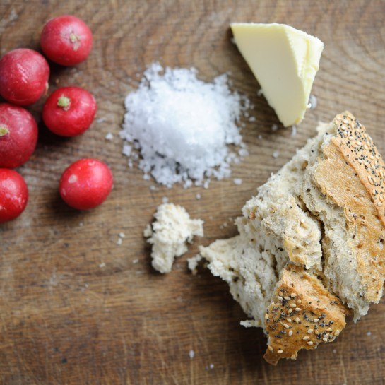 radish butter salt and bread