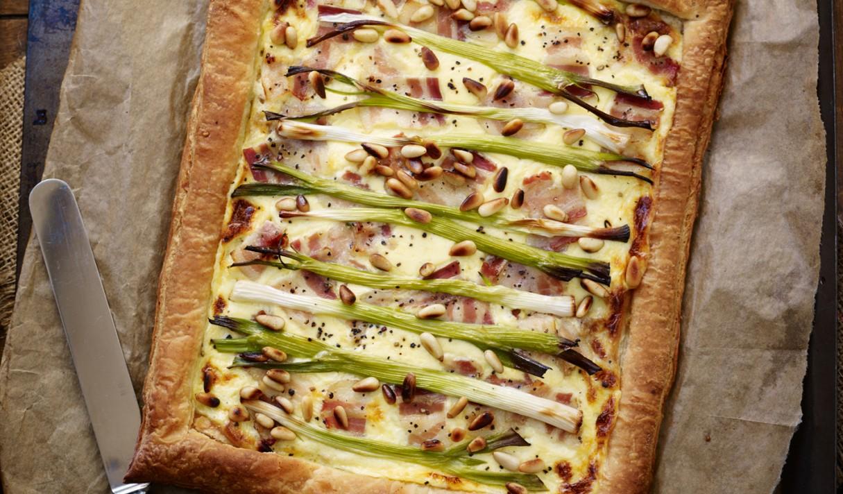 Spring onion tart